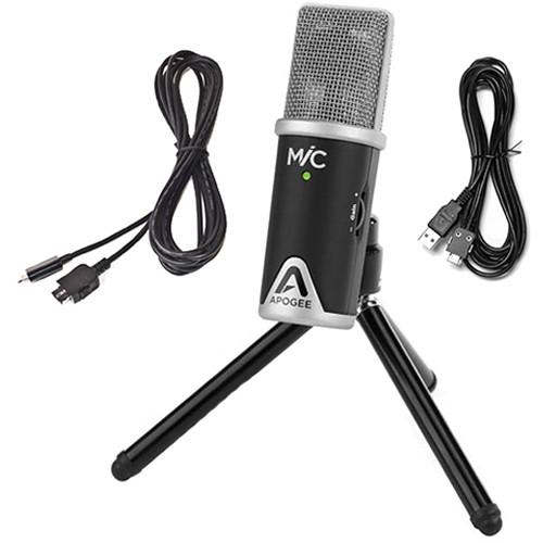 Apogee Electronics MiC 96K USB Mic with Senal Pro Headphones and Accessories Kit