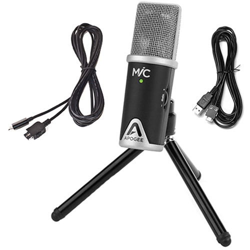 Apogee Electronics MiC 96K USB Mic with Senal Pro Headphones and Accessories Kit