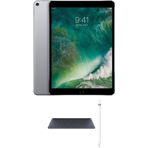 """Apple 10.5"""" iPad Pro with Apple Smart Keyboard and Apple Pencil Kit (256GB, Wi-Fi Only, Space Gray)"""