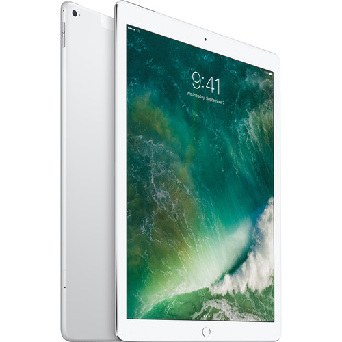 "Apple 12.9"" iPad Pro (128GB, Wi-Fi + 4G LTE, Silver)"