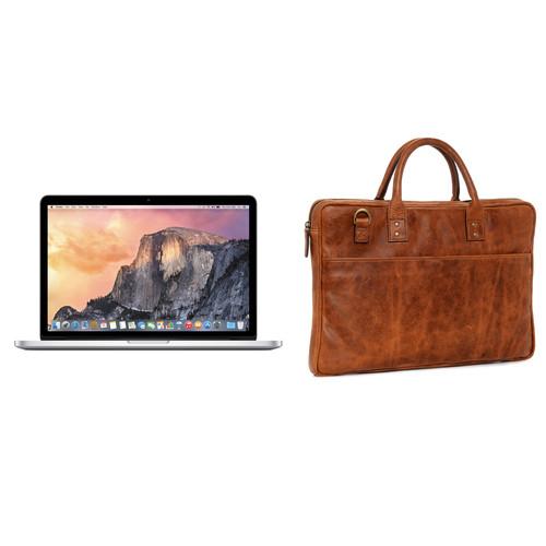 "Apple 13.3"" MacBook Pro and Briefcase Kit (Antique Cognac)"