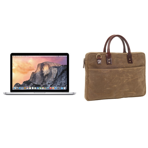 """Apple 13.3"""" MacBook Pro and Briefcase Kit (Field Gray)"""