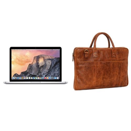 "Apple 15.4"" MacBook Pro and Briefcase Kit (Antique Cognac)"