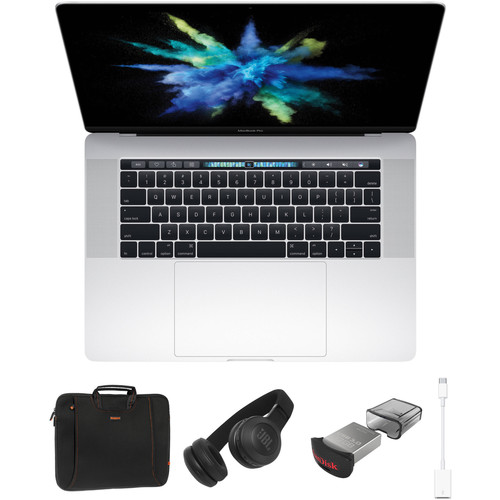 "Apple 15.4"" MacBook Pro with Touch Bar Kit with Case Logic Bag, JBL Bluetooth Headphones, & Accessories (Late 2016, Silver)"