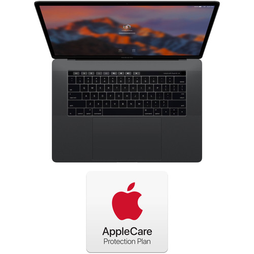 """Apple 15.4"""" MacBook Pro with Touch Bar Kit with AppleCare+ Protection Plan 2-Year Extension (Late 2016, Space Gray)"""