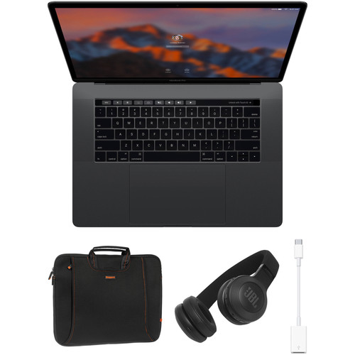 "Apple 15.4"" MacBook Pro with Touch Bar Kit with Rugged Sleeve, JBL Bluetooth Headphones, & Accessories (Late 2016, Space Gray)"
