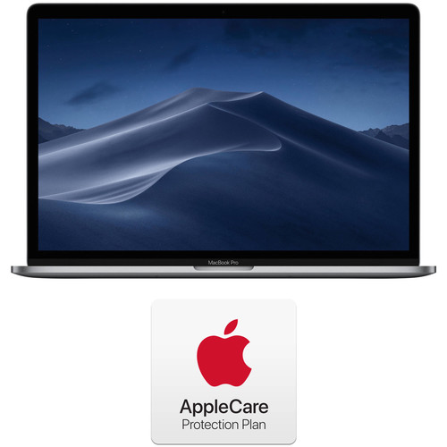 """Apple 15.4"""" MacBook Pro with Touch Bar Kit with AppleCare+ 2-Year Extension (Mid 2019, Space Gray)"""