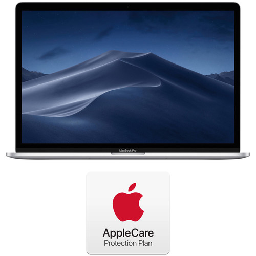 """Apple 15.4"""" MacBook Pro with Touch Bar Kit and AppleCare+ 2-Year Extension (Mid 2019, Silver)"""