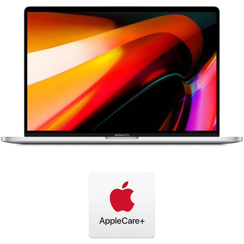 """Apple 16"""" MacBook Pro (Late 2019, Silver) and AppleCare+ Protection Plan"""