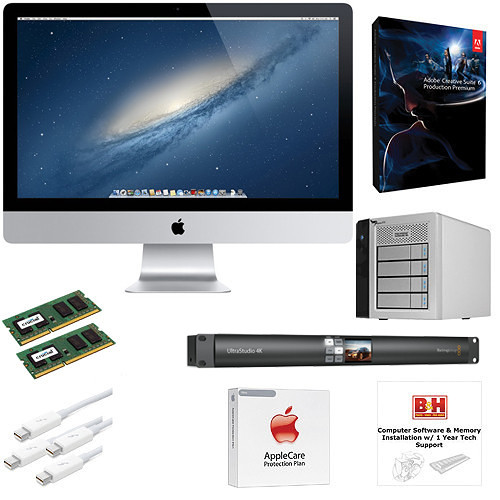 "B&H Photo Mac Pro Workstation 27"" iMac with CS6 PP / UltraStudio 4K / RAID Mid-Level Kit"