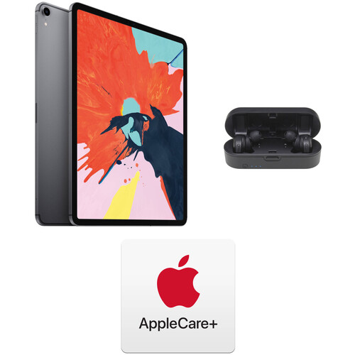 "Apple iPad Pro 12.9"" and AppleCare+ Protection Plan Kit (512GB, Wi-Fi + 4G LTE, Space Gray, Previous Gen)"