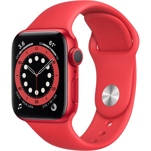 Apple Watch Series 6 (GPS, 40mm, PRODUCT(RED) Aluminum, PRODUCT(RED) Sport Band)