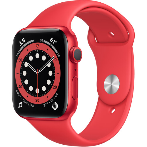 Apple Watch Series 6 (GPS, 44mm, PRODUCT(RED) Aluminum, PRODUCT(RED) Sport Band)