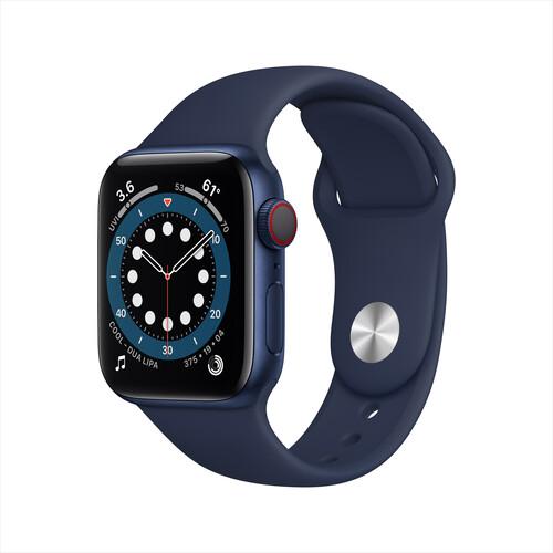 Apple Watch Series 6 (GPS + Cellular, 40mm, Blue Aluminum, Deep Navy Sport Band)
