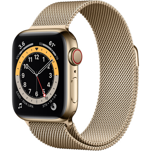 Apple Watch Series 6 (GPS + Cellular, 40mm, Gold Stainless Steel, Gold Milanese Loop)