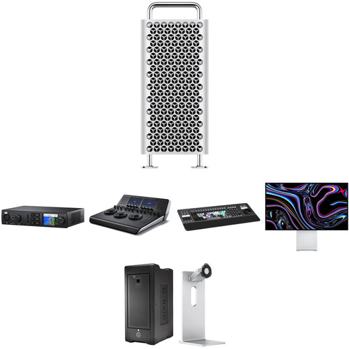 Apple Mac Pro with DaVinci Resolve Workstation Video Editing Kit