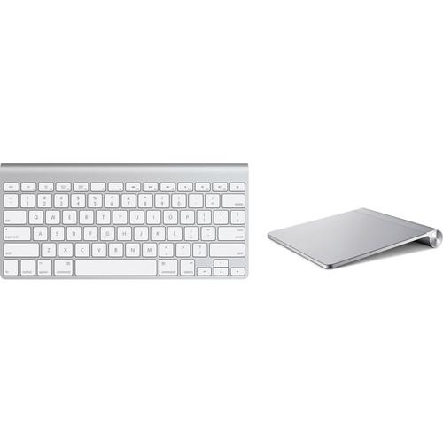 apple magic trackpad and wireless keyboard kit b h photo video. Black Bedroom Furniture Sets. Home Design Ideas