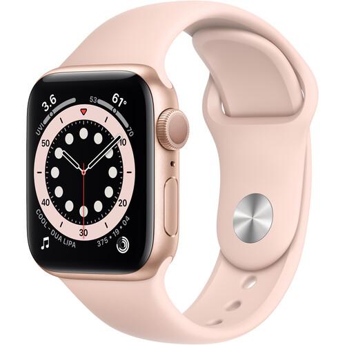 Apple Watch Series 6 (GPS, 40mm, Gold Aluminum, Pink Sand Sport Band)