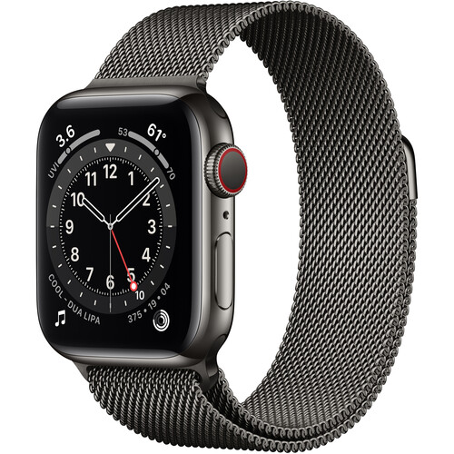 Apple Watch Series 6 (GPS + Cellular, 40mm, Graphite Stainless Steel, Graphite Milanese Loop Band)