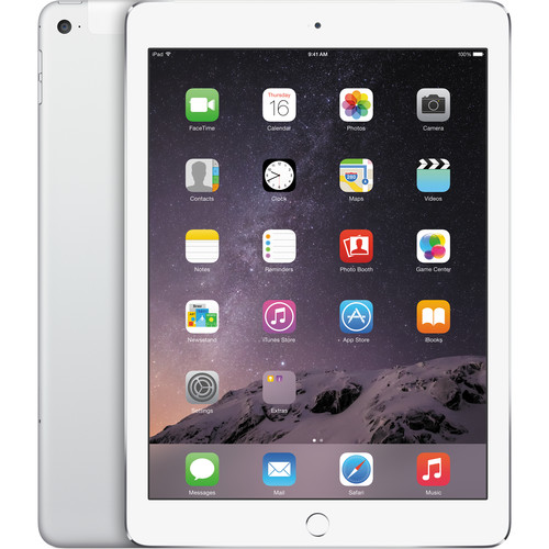 Apple 64GB iPad Air 2 (Wi-Fi + 4G LTE, Silver)