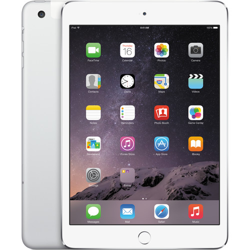 Apple 128GB iPad mini 3 (Wi-Fi + 4G LTE, Silver)