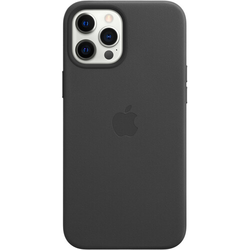 Apple iPhone 12 Pro Max Leather Case with MagSafe (Black)