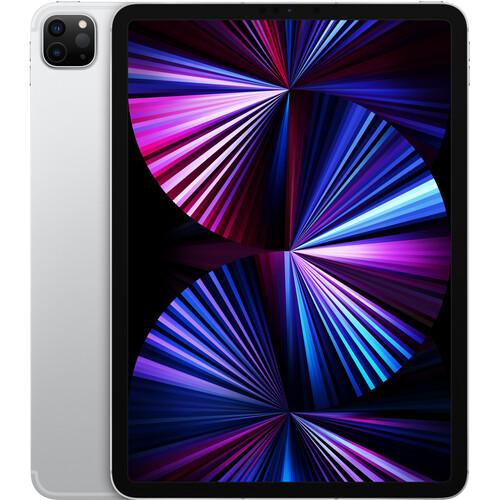 """Apple 11"""" iPad Pro M1 Chip (Mid 2021, 128GB, Wi-Fi + 5G LTE, Silver)"""