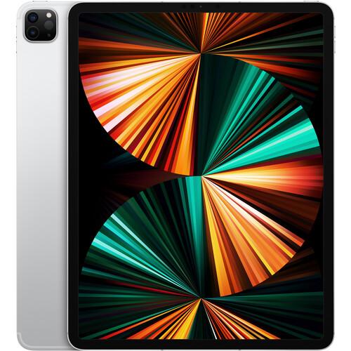 """Apple 12.9"""" iPad Pro M1 Chip (Mid 2021, 256GB, Wi-Fi + 5G LTE, Silver)"""
