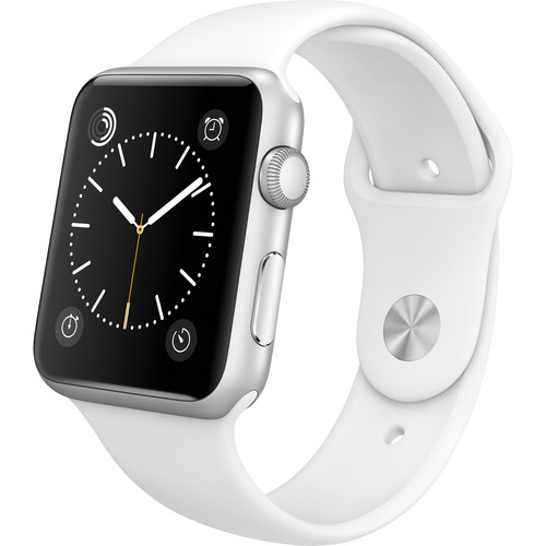 Apple Watch Sport 42mm Smartwatch (2015, Silver Aluminum Case, White Sport Band)