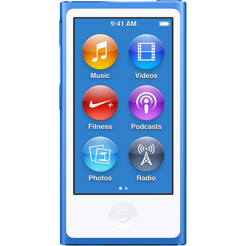 Apple 16GB iPod nano (Blue, 7th Generation, 2015 Model)