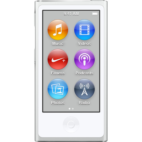 Apple 16GB iPod nano (Silver, 7th Generation, 2015 Model)