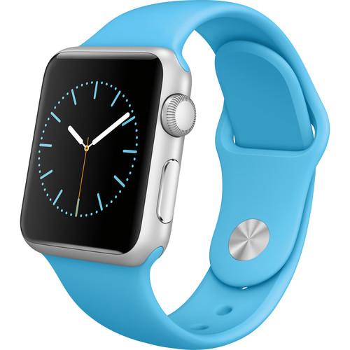 Apple Watch Sport 38mm Smartwatch (2015, Silver Aluminum Case, Blue Sport Band)
