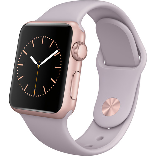 Apple Watch Sport 38mm Smartwatch (2015, Rose Gold Aluminum Case, Lavender Sport Band)