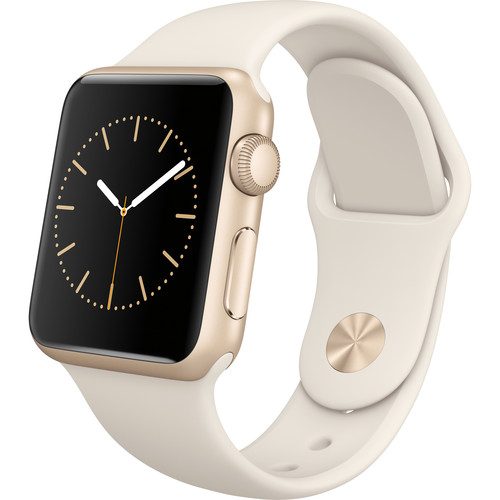 Apple Watch Sport 38mm Smartwatch (2015, Gold Aluminum Case, Antique White Sport Band)