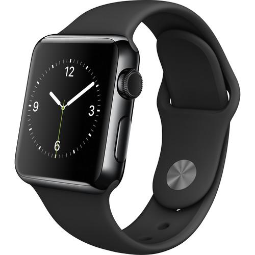 Apple Watch 38mm Smartwatch (2015, Space Black Stainless Steel Case, Black Sport Band)