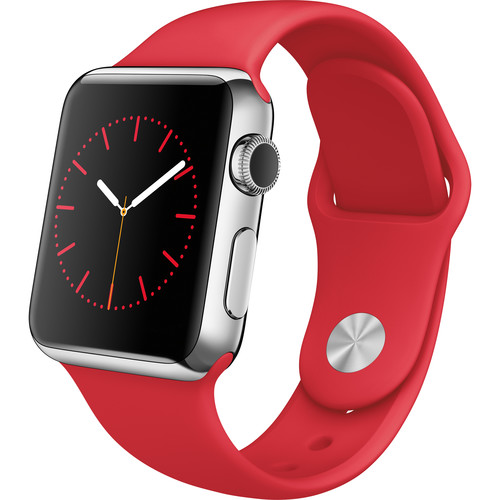Apple Watch 38mm Smartwatch (2015, Stainless Steel Case, (PRODUCT)RED Sport Band)