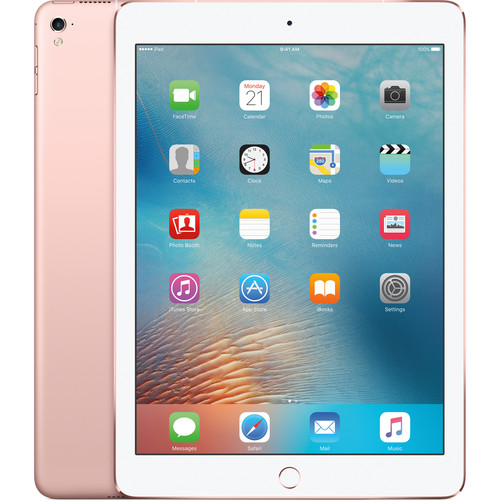 "Apple 9.7"" iPad Pro (128GB, Wi-Fi + 4G LTE, Rose Gold)"