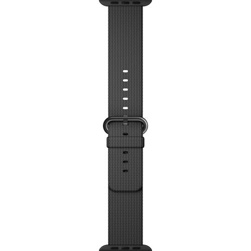 Apple Watch Woven Nylon Band (42mm, Black)