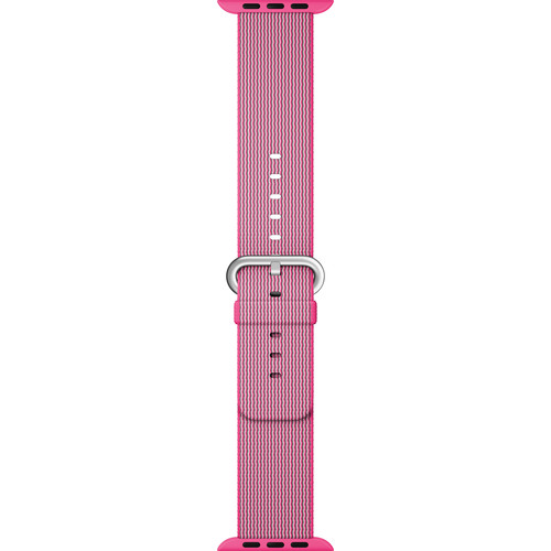 Apple Watch Woven Nylon Band (42mm, Pink)