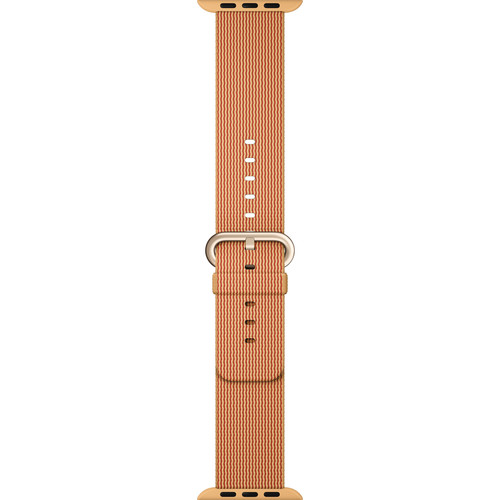 Apple Watch Woven Nylon Band (42mm, Gold/Red)