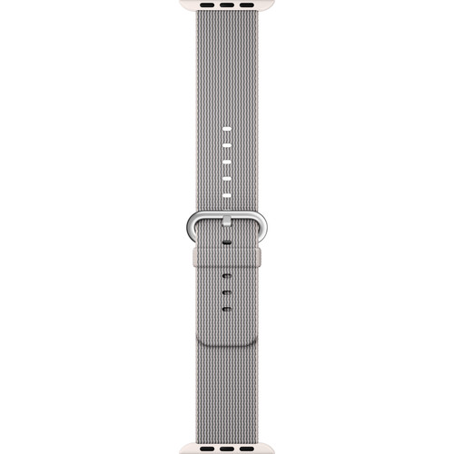 Apple Watch Woven Nylon Band (42mm, Pearl)