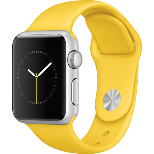 Apple Watch Sport 38mm Smartwatch (2015, Silver Aluminum Case, Yellow Sport Band)