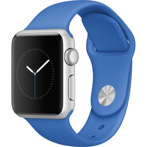 Apple Watch Sport 38mm Smartwatch (2015, Silver Aluminum Case, Royal Blue Sport Band)