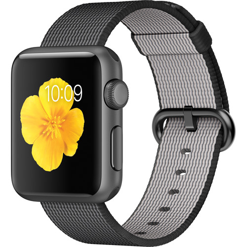 Apple Watch Sport 38mm Smartwatch (2015, Space Gray Aluminum Case, Black Woven Nylon Band)