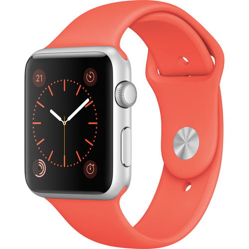 Apple Watch Sport 42mm Smartwatch (2015, Silver Aluminum Case, Apricot Sport Band)