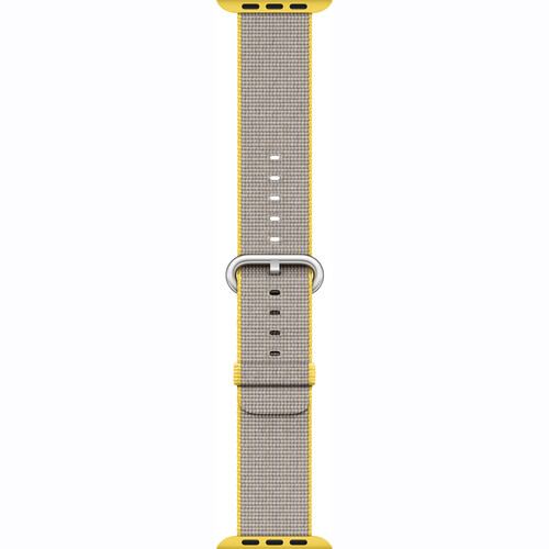 Apple Watch Woven Nylon Band (38mm, Yellow/Light Gray)