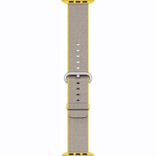 Apple Watch Woven Nylon Band (42mm, Yellow/Light Gray)