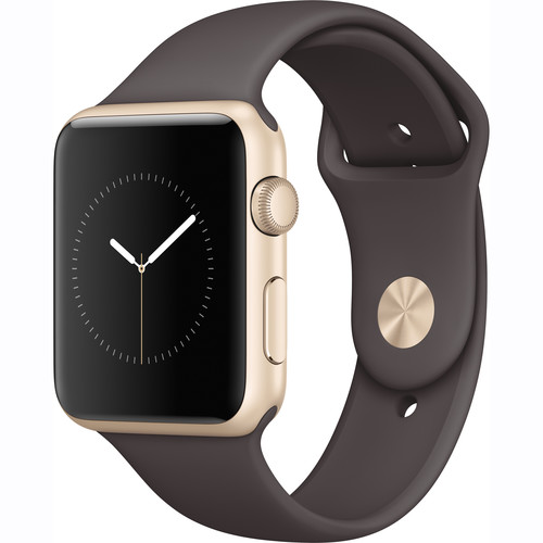 Apple Watch Series 1 42mm Smartwatch (Gold Aluminum Case, Cocoa Sport Band)