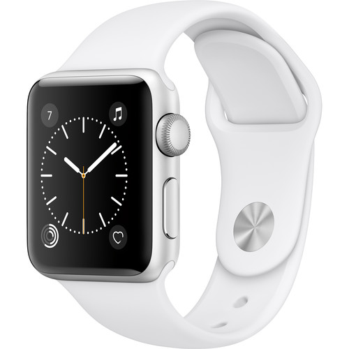 Apple Watch Series 2 38mm Smartwatch (Silver Aluminum Case, White Sport Band)