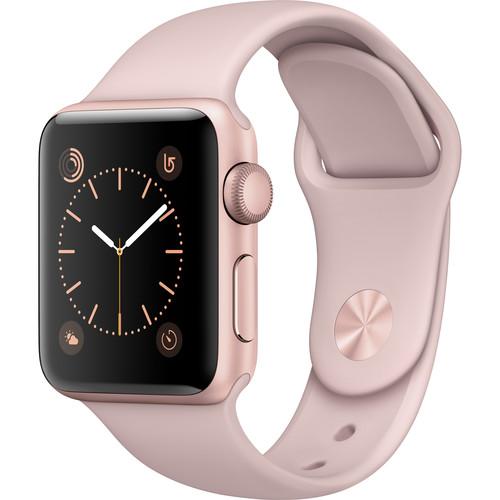 Apple Watch Series 2 38mm Smartwatch (Rose Gold Aluminum Case, Pink Sand Sport Band)